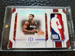 2018 - 19 18 19 National Treasures Dwyane Wade Colossal Logoman 1/1 Heat Retired