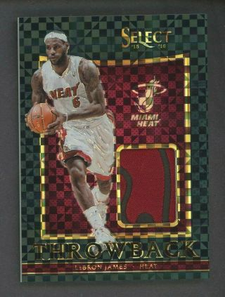 2015 - 16 Select Throwback Black Lebron James Heat Game Logo Patch 1/1