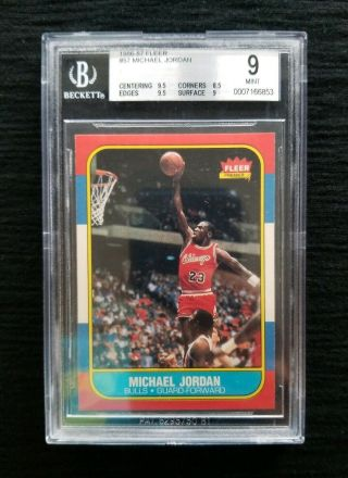 1986 - 87 Fleer Michael Jordan Rookie 9 High End