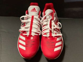 Jo Adell Los Angeles Angels Signed 2019 Futures Game Game Cleats Jaf