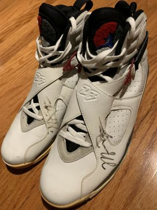 michael jordan Game Worn Autographed Shoes Chicago Bulls 2