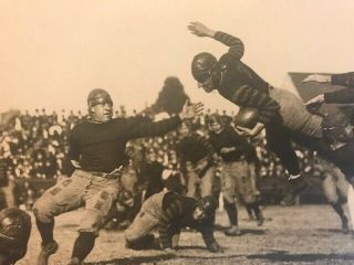 ca.  1920 ANTIQUE JIM THORPE TYPE 1 FOOTBALL PHOTOGRAPH WITH CARLISLE 2
