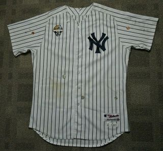 York Yankees Brian Mccann Game Home Run Jersey Photo Matched W/sp Patch