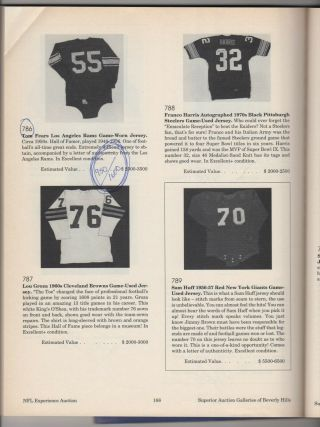 Vintage 1950s Tom Fears Los Angeles Rams Game Worn Jersey Rare NFL HOF H.  O.  F. 6