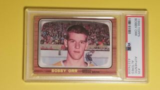 1966 Topps 35 Bobby Orr Rookie Rc Graded Psa Authentic Altered