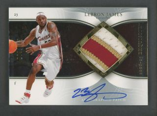 "2006 - 07 Ud Exquisite Lebron James Game 3 - Color Patch Auto /100 "" Rare """