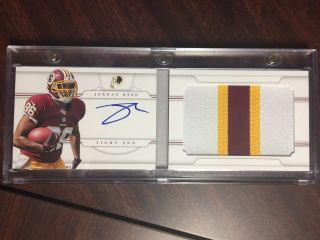 2013 National Treasures Jordan Reed Rpa Rc Auto Booklet 2/49