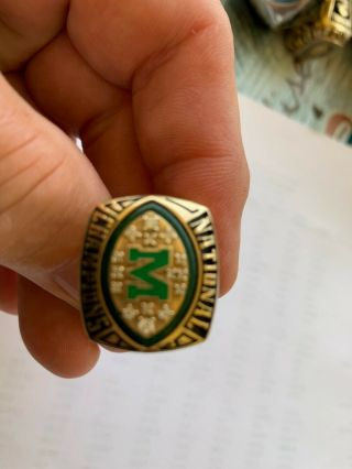 Gorgeous Marshall University Football 10k Championship Ring - Perfect Season