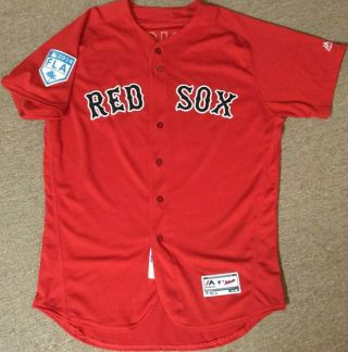 Boston Red Sox Game Worn/used Team Issued St Red Alt Jersey 10 Price