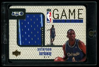 1997 - 98 Upper Deck Game 2 Color Away Jerseys Gj21 Anfernee Hardaway 1:2500 Rare