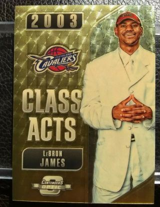2018 - 19 Contenders Optic Class Acts Lebron James Gold Vinyl 1/1