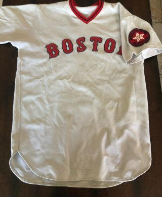 1974 Boston Red Sox Game Worn/ Issued Jersey With Bicentennial Patch
