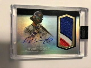 2018 Topps Dynasty Javier Baez Game Patch Autograph Auto Card /10