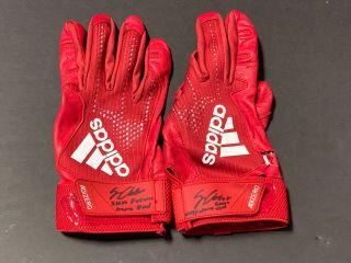 Jo Adell Los Angeles Angels Signed 2019 Futures Game Game Batting Gloves