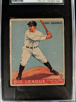 1933 Goudey Lou Gehrig 92 Sgc 40 (3) (priced For Quick)