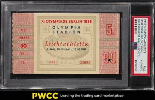 1936 Olympics Full Ticket 200 Meter Dash Jesse Owens 3rd Gold Psa Auth (pwcc)