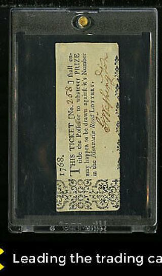 George Washington Presidential Signed Autograph Lottery Ticket Auto,  Jsa (pwcc)