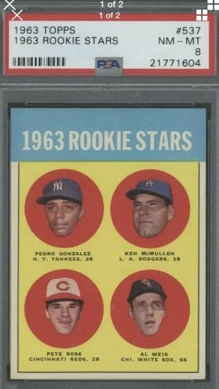 1963 Topps Pete Rose Cincinnati Reds 537 Baseball Card