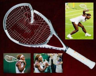 Serena Williams Wimbledon 2005 Match Broken And Signed Wilson Tennis Racket