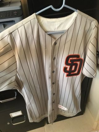 San Diego Padres Game Jersey 7 Bevacqua 1986