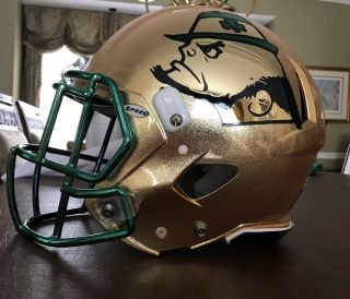 Notre Dame 2015 Shamrock Series Team Issued Helmet