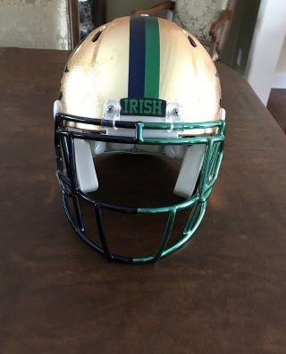 Notre Dame 2015 Shamrock Series Team Issued Helmet 3