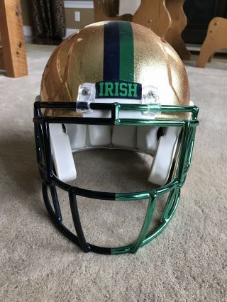 Notre Dame 2015 Shamrock Series Team Issued Helmet 4