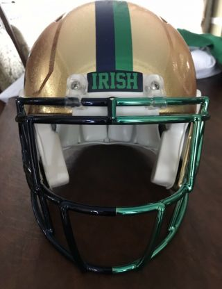 Notre Dame 2015 Shamrock Series Team Issued Helmet 5