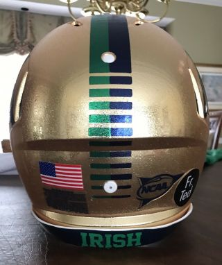 Notre Dame 2015 Shamrock Series Team Issued Helmet 7