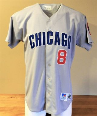 1998 Sandy Martinez (set 2) Game Worn Chicago Cubs Road Jersey 8 - Russell