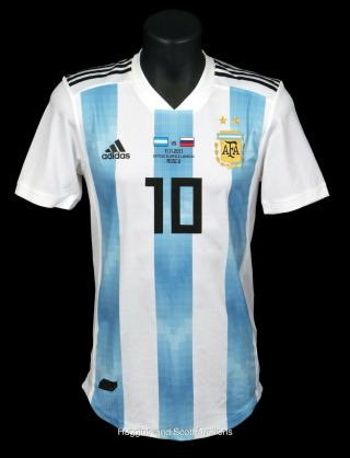 Lionel Messi Argentina Match Worn Shirt Jersey 2017 Friendly Vs Russia Loa