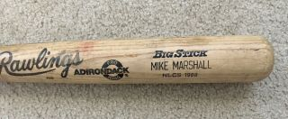 Photo Matched 1988 World Series / Nlcs Game Bat - Dodgers Mike Marshall