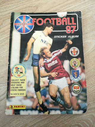 Rare Vintage 100 Complete 1987 Panini Football Sticker Album Retro Soccer Full