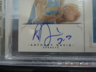 Anthony Davis 2012 - 13 National Treasures Rookie 3clr Patch Auto Rc Rpa 020/199