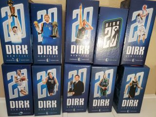 Dirk Nowitzki Dallas Mavericks Bobbleheads 20th Season Rare Full Set Of 10