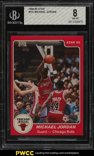 1984 - 85 Star Basketball Michael Jordan Rookie Rc 101 Bgs 8 Nm - Mt (pwcc)