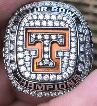 2015 Tennessee Volunteers Gator Bowl Champions Championship Players Ring