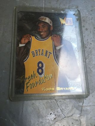 Kobe Bryant Rookie Card,  Card 137 Fleet Metal 96 - 97,  Great