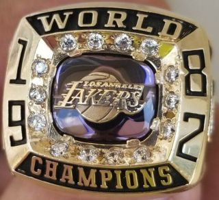 1982 Los Angeles Lakers Nba Champions Championship Ring Basketball La L.  A Josten