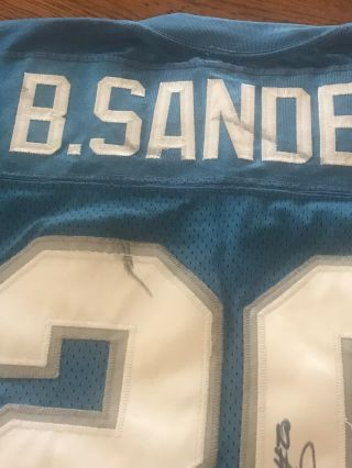 BARRY SANDERS 20 DETROIT LIONS GAME JERSEY CIRCA 1990's HALL OF FAME L@@K 3
