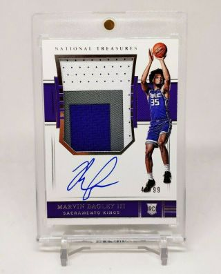 2018 - 19 National Treasures Rookie Patch Auto Rpa Marvin Bagley Iii /99