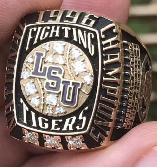 Glorious 52 Gram 14k Lsu Fighting Tigers National Champions Championship Ring