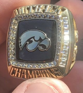 2019 Iowa Hawkeyes Outback Bowl Football Champions Championship Player Ring
