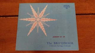 Broadmoor 1961 National Figure Skating Championships 1961 Program J81614