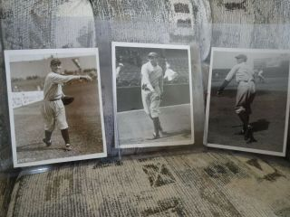 3 Type 1 Baseball Photos Of Ny Yankees Tony Lazzeri,  Herb Pennock,  Pat Bengough