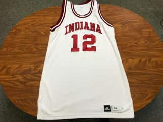Mens Authentic Indiana Hoosiers Game Worn Adidas Basketball Jersey Size 46