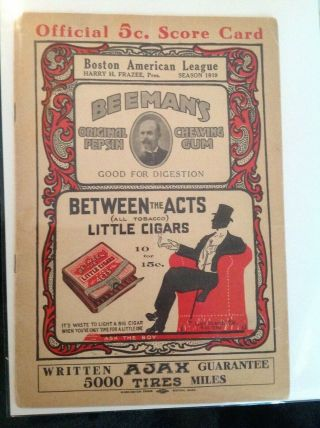 1919 Boston Red Sox Program