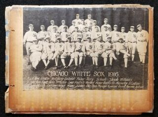 1910 - 1923 Shoeless Joe Jackson Family Scrapbook Personally Owned Photos Articles