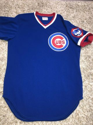 Chicago Cubs Lee Smith Game Road Jersey W/ Loa Hall Of Famer