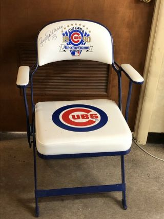 Cubs 1990 All - Star Game Club Seat Chair Limited Ed 1/90 Signed By Ryne Sandberg